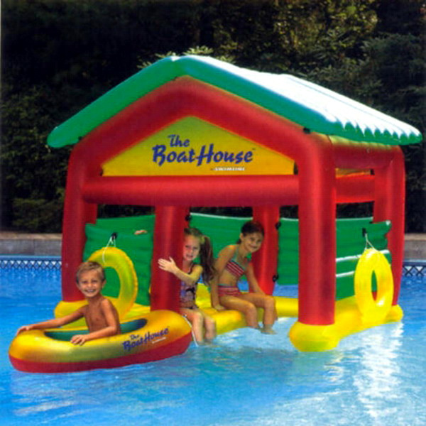 Details about new kids inflatable floating water boat house pool float