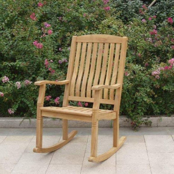 ... Teak Wood Rocking Chair Large Rocker Outdoor Porch Furniture  eBay