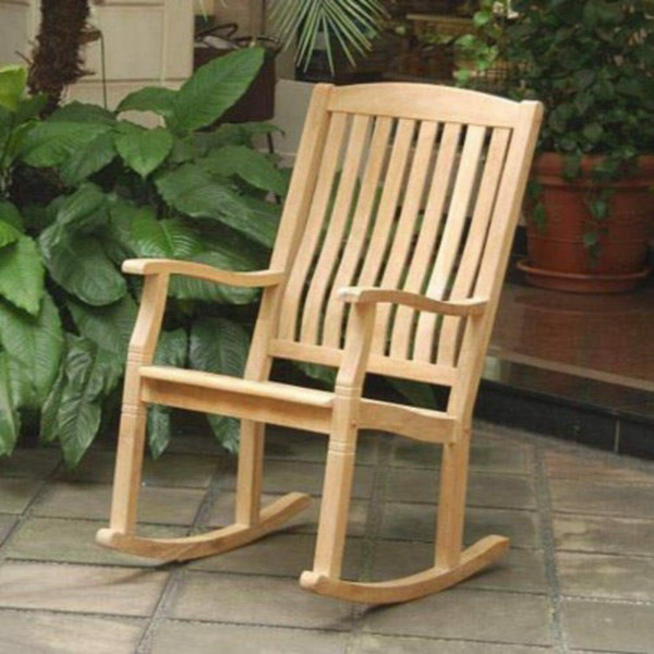 New Large Teak Wood Rocker Outdoor Furniture Rocking Chair