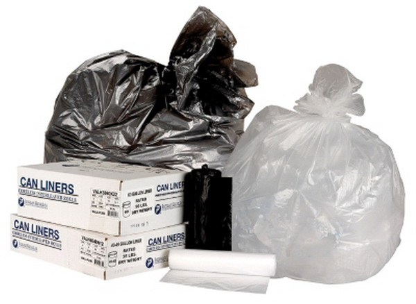 New 1000 Count Trash Can Liners 12 to 16 Gallon Garbage Bags Coreless Roll