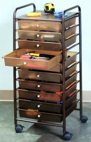 New Rolling 10 Drawer Scrapbook Storage Organizer Cart Ebay