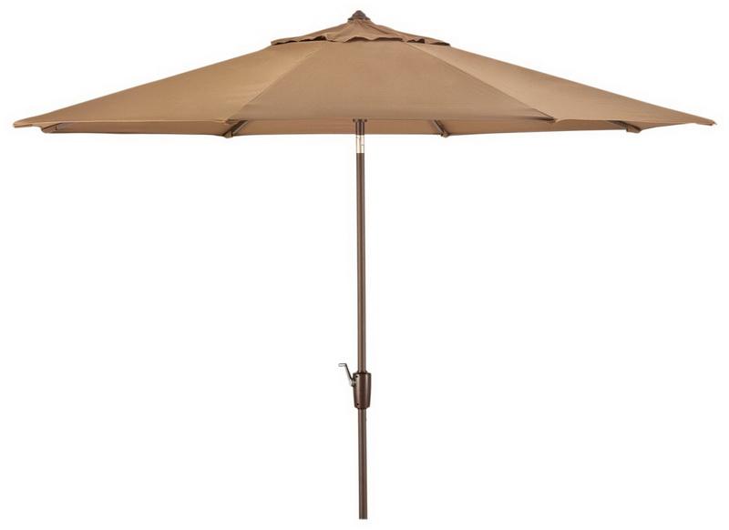 new large 10 patio market umbrella canvas cocoa sunbrella fabric aluminum tilt ebay