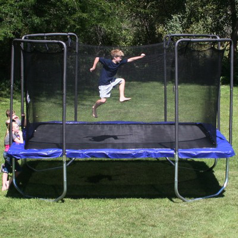 Skywalker Trampolines 15 Foot Sq Trampoline And Safety: New Big 13 Foot Square Trampoline Galvanized Steel Frame