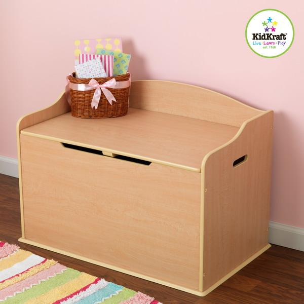 NEW Kids Wooden TOY Chest Kidkraft Storage BOX Chest Safety Hinged LID ...