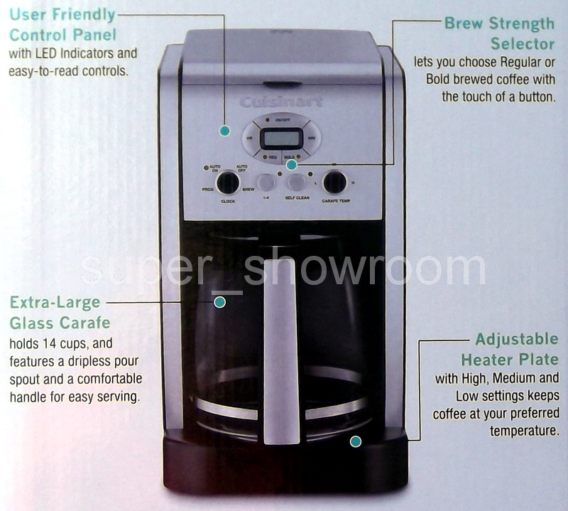 Cuisinart Coffee Maker Customer Service : New Cuisinart Brew Central 14 Cup Programmable Coffee Maker Glass Carafe Brewer 086279034502 eBay