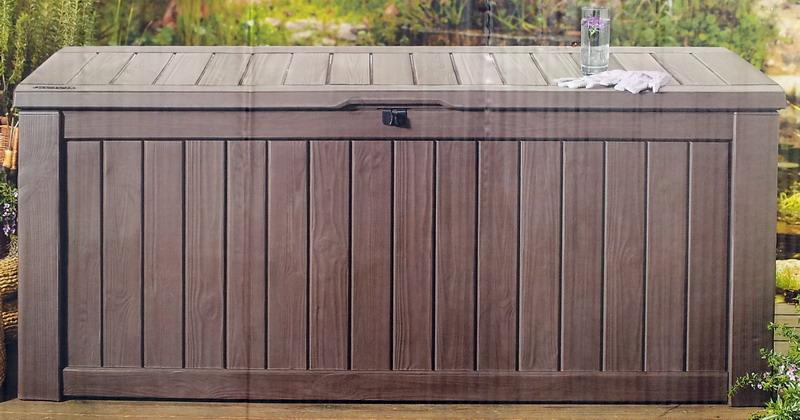 New 150 Gallon Deck Storage Box Jumbo Seat Yard Pool Patio Furniture