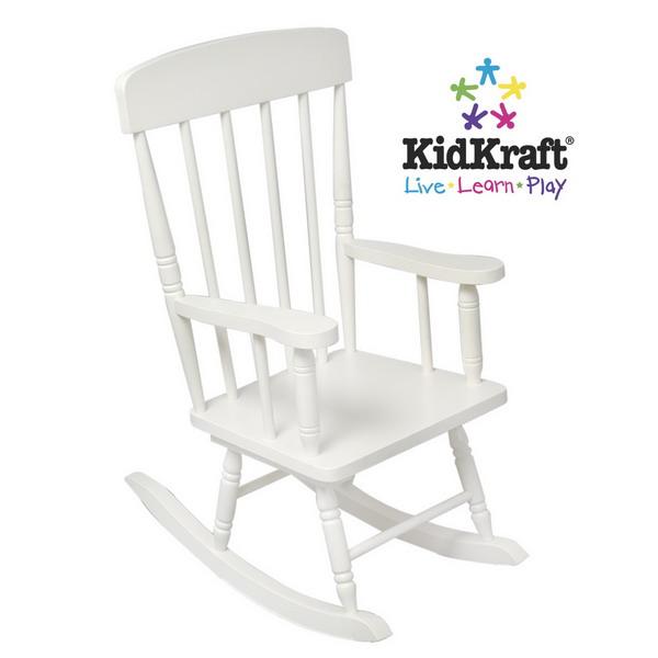 New Kids White Wooden Spindle Rocking Chair Childrens Rocker KidKraft ...