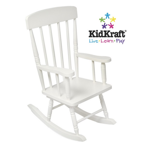 White Wooden Spindle Rocking Chair Childrens Rocker KidKraft Furniture