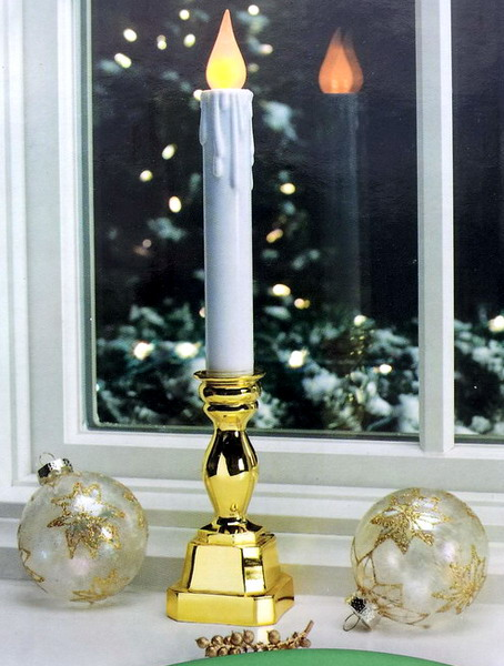 window candle candlestick led flickering christmas lights decoration. Black Bedroom Furniture Sets. Home Design Ideas