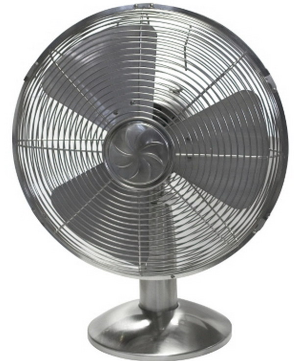 New Air Fans : New oscillating speed quot metal table fan retro style