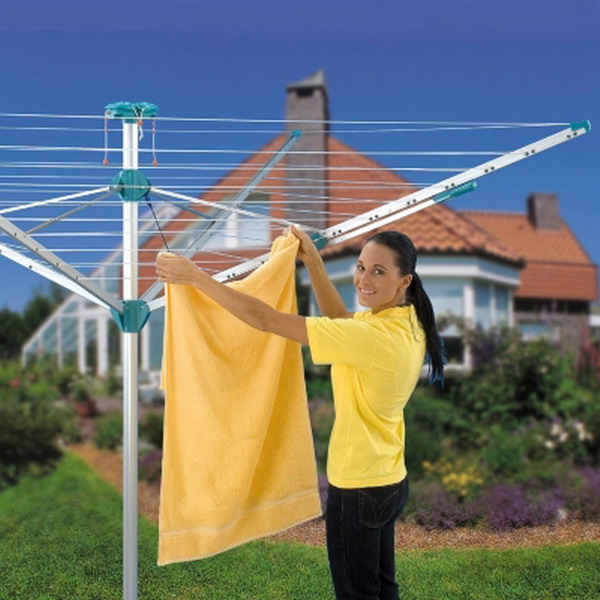 new outdoor clothes line clothesline rotary line laundry. Black Bedroom Furniture Sets. Home Design Ideas