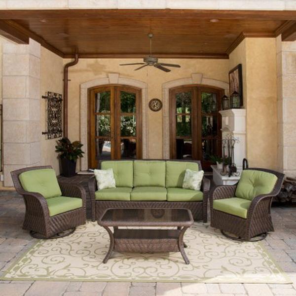 Outdoor Wicker Glider Sofa: New Outdoor Wicker Furniture Set Sofa 2 Glider Chairs