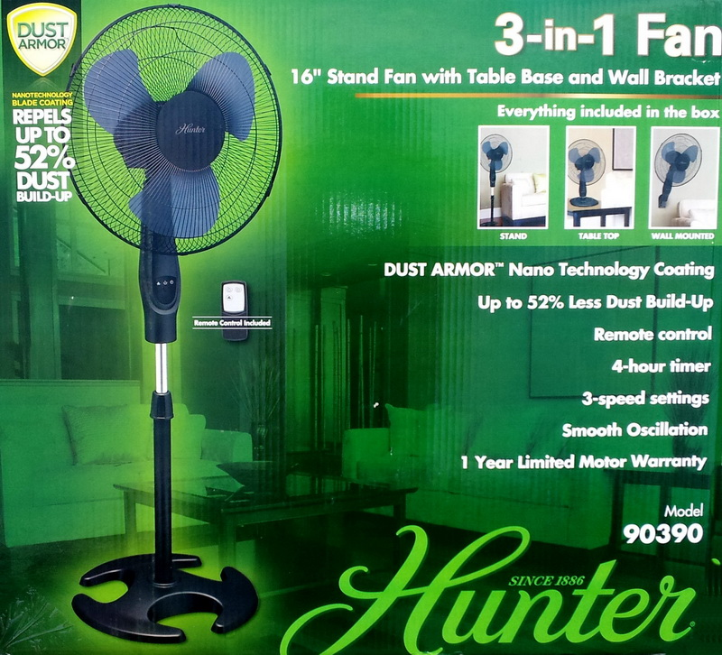 From Smc Stand Fan : New hunter quot oscillating in table stand wall fan ebay