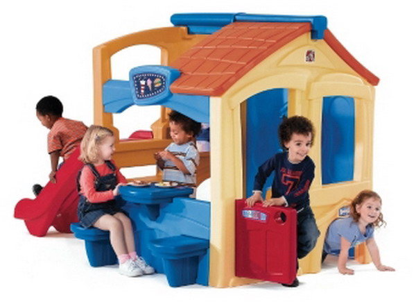 New big kids activity center playhouse plastic outdoor for Big kids play house