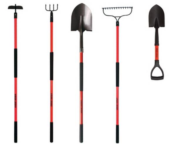 New Black Decker Long Handled Garden Tools 5 Piece Set Shovel Rake HO Spade