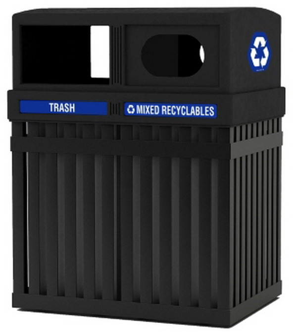Commercial Trash Bin Sizes : New commercial trash can recycle bin set black gallon