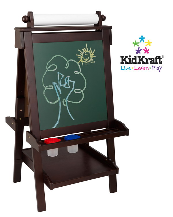 New Kids Wood Art Easel Paper Chalk White Board Wooden Ebay
