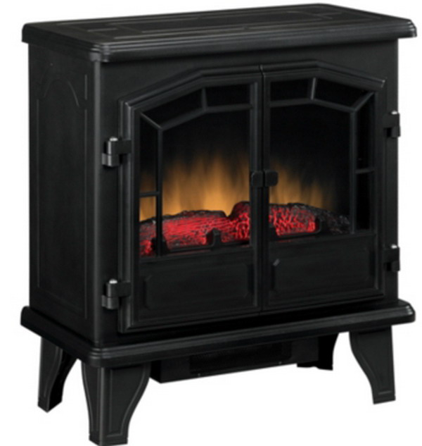 New free standing electric 4 600 btu heating fireplace Heating large spaces