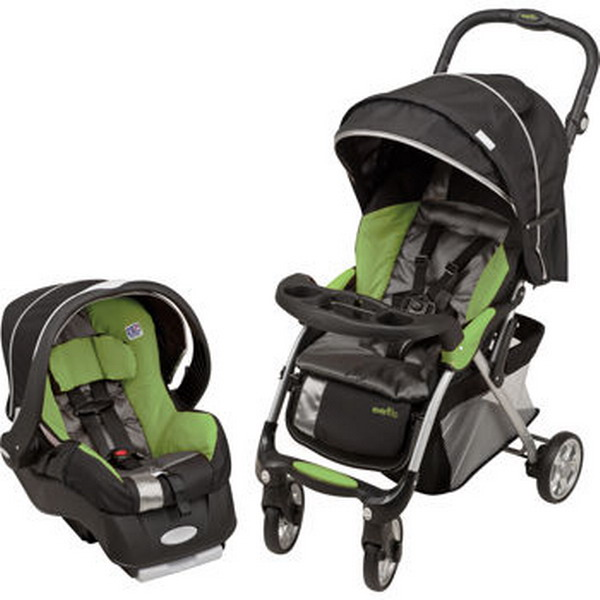 new stroller car seat evenflo featherlite 400 travel system collection green ebay. Black Bedroom Furniture Sets. Home Design Ideas