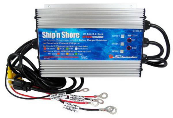 Marine Battery Charger And Monitor : New marine battery charger on board boat schumacher bank