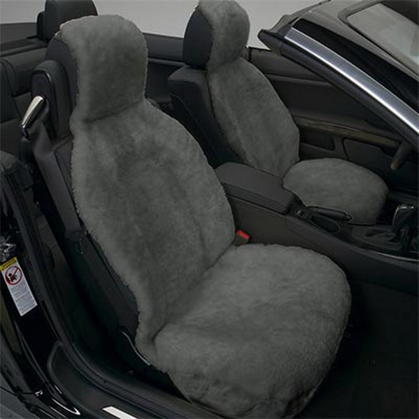 Grey Sheepskin Car Seat Covers
