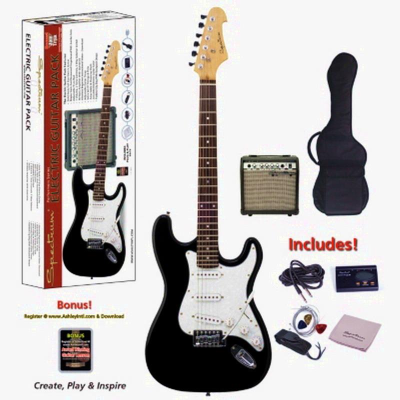 Electric Guitar Body Length : new black white electric guitar with amplifier spectrum solid body full size ebay ~ Russianpoet.info Haus und Dekorationen