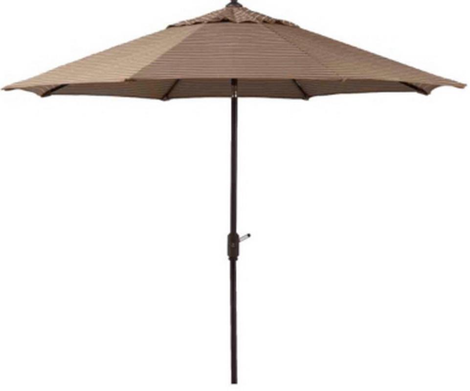 New 10 Patio Market Umbrella Mocha Stripe Sunbrella