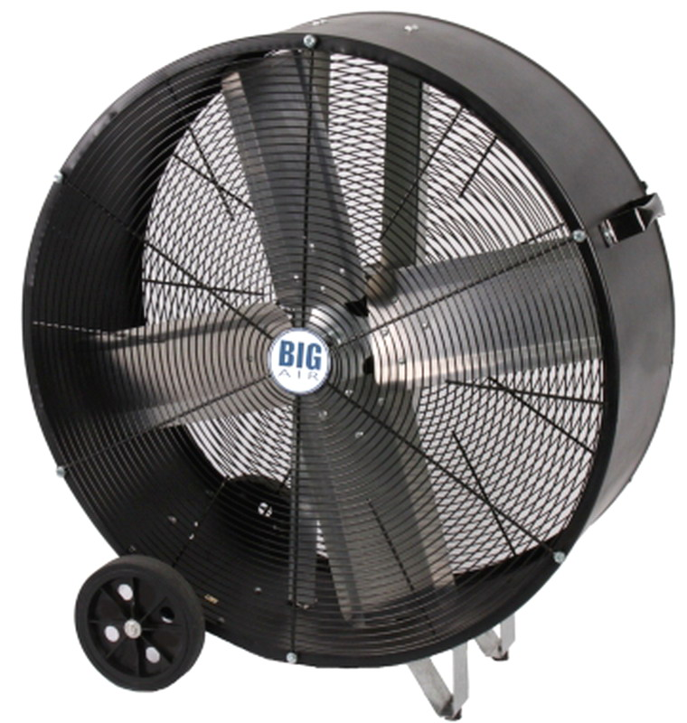 People Using Electric Fan : New portable quot barrel floor fan speed direct drive big