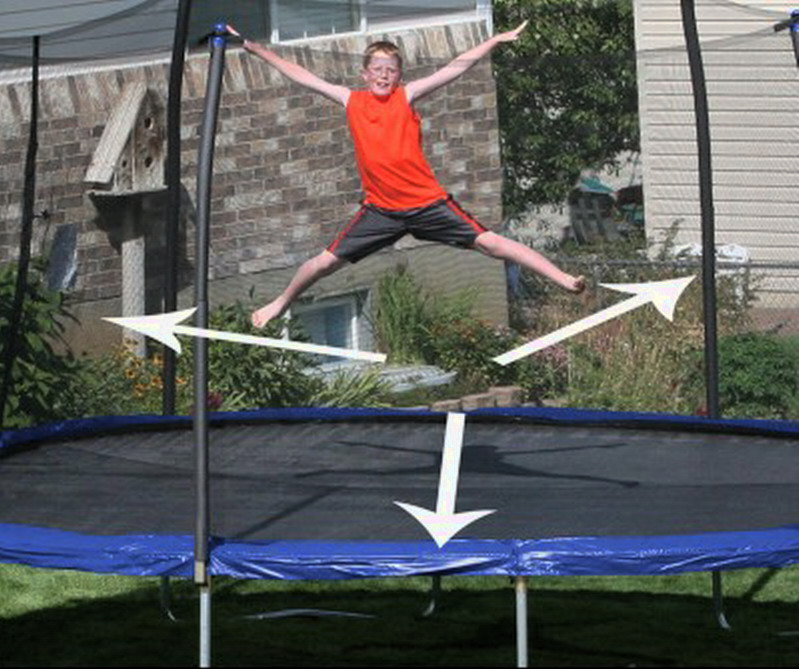 New Huge 15 X 17 Oval Trampoline Safety Net Enclosure