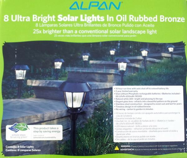 Solar Lights Extra Bright: New Alpan 8 Ultra Bright LED Solar Path Lights In Oil