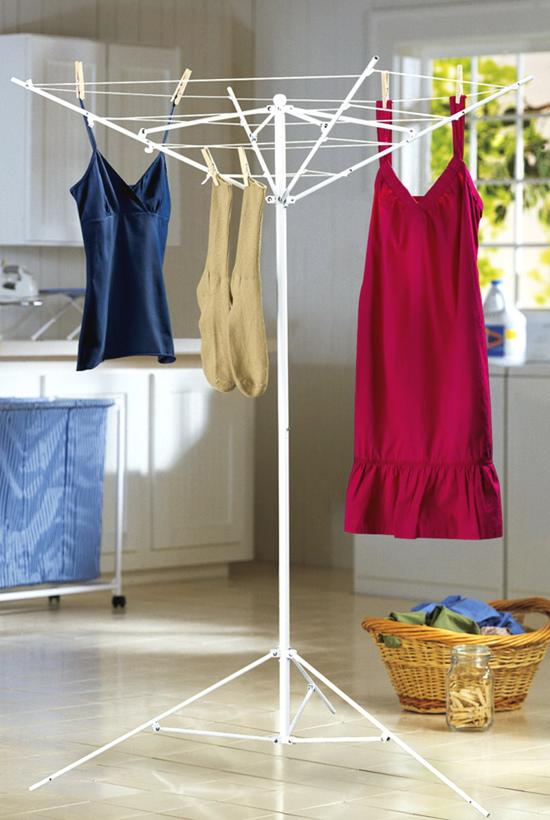 new indoor outdoor clothesline clothes laundry drying rack with ground stakes ebay. Black Bedroom Furniture Sets. Home Design Ideas