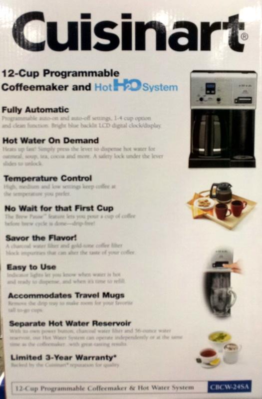 New Cuisinart 12-Cup Programmable Coffee Maker & Hot Water Dispenser eBay