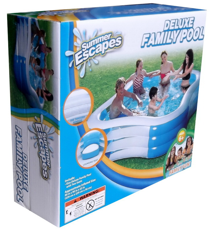 New large inflatable swimming pool family size water play for Large size inflatable swimming pool