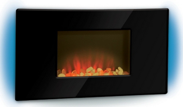 New Electric Indoor Wall Mount Fireplace Heater Flat Panel Wall Hung Led Fire Ebay