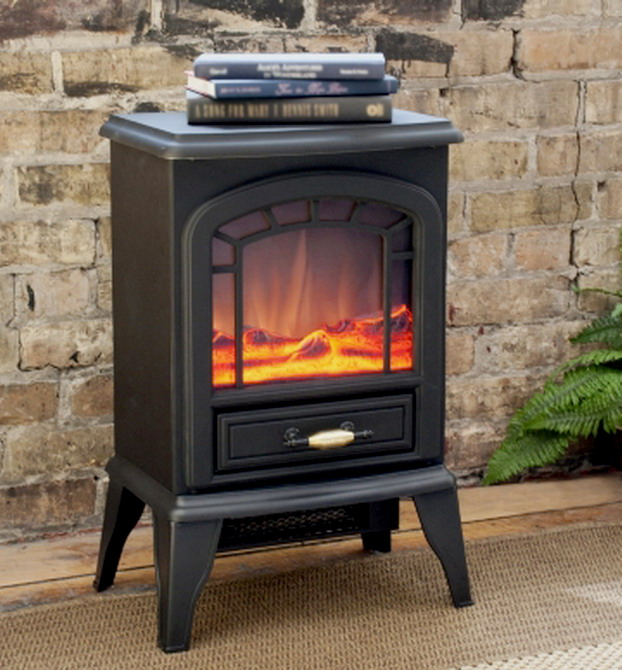 New Free Standing Electric Stove Fireplace Heater Ventless