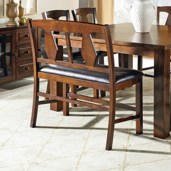 New 6 Piece Counter Height Dining Set Table Bench 4 Chairs Cherry Finish EBay