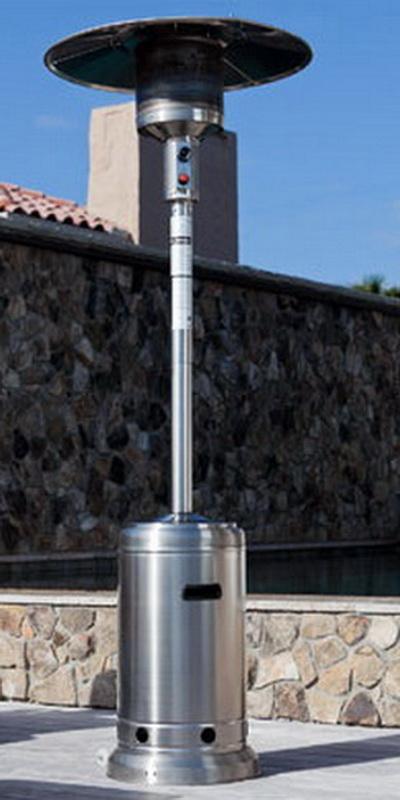 46 000 BTU Propane Patio Deck Heater 87 Tall Outdoor Heating