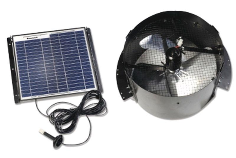 New Gable Mount Solar Powered Attic Fan Ventilator Roof