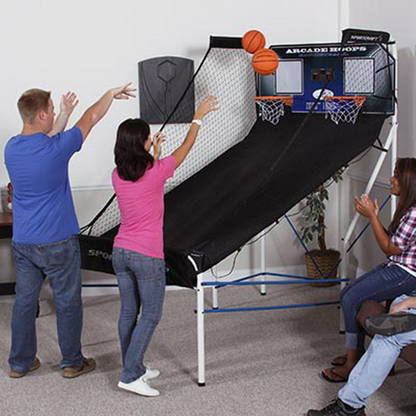 New Fun Indoorn Basketball Arcade Game Sportcraft Score Keeper Hoops on sportcraft basketball arcade game