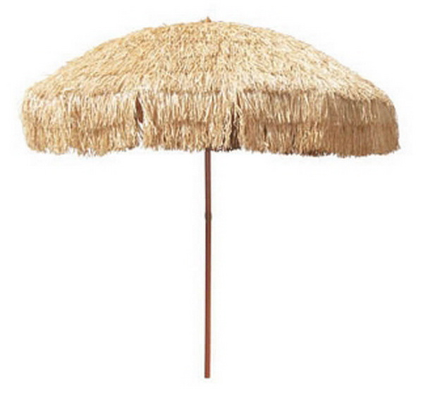 New 8 39 Hula Grass Umbrella Patio Deck Table UPF 50 Shade