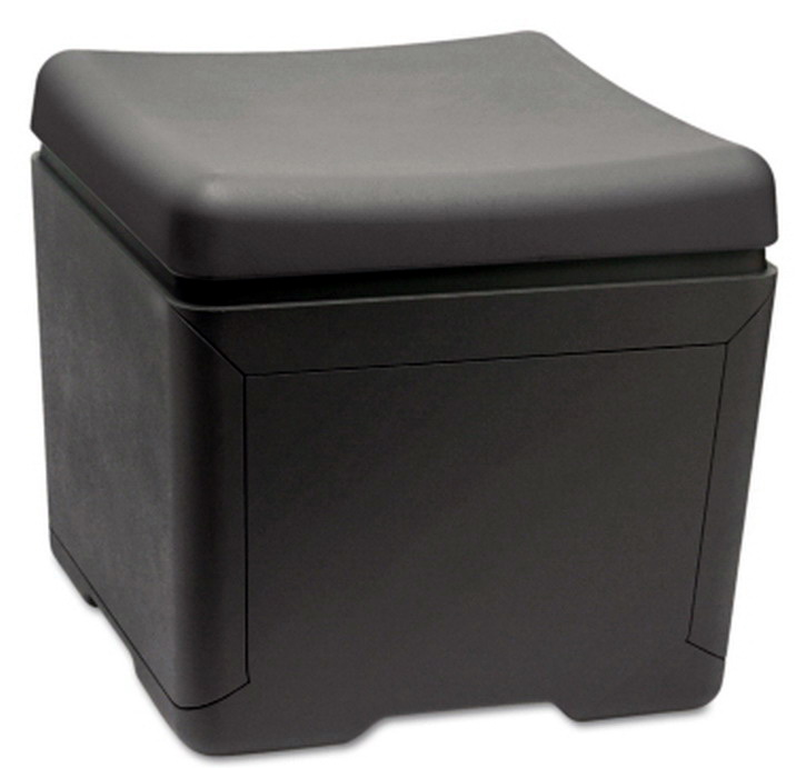 new 18 x 18 file storage box with seat top black plastic