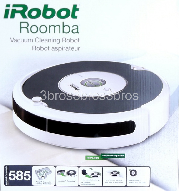 new irobot roomba 585 pet series vacuum cleaner automatic. Black Bedroom Furniture Sets. Home Design Ideas