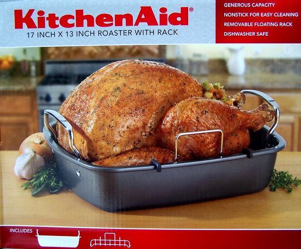 New Kitchenaid 17 Quot X 13 Quot Nonstick Roaster Pan W Rack