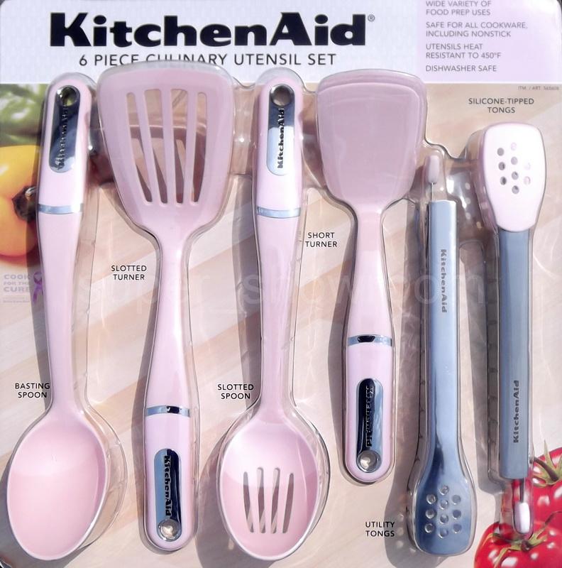 New Kitchenaid 6 Piece Cancer Awareness Pink Culinary