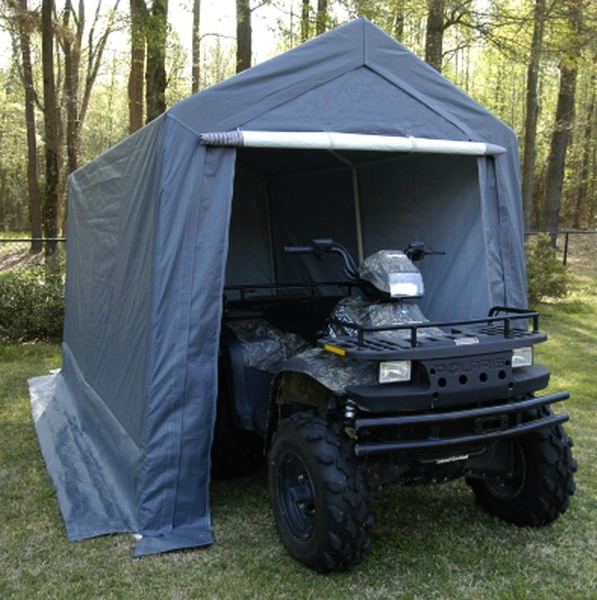 Enclosed Motorcycle Shelter : New big all season storage canopy garage shelter