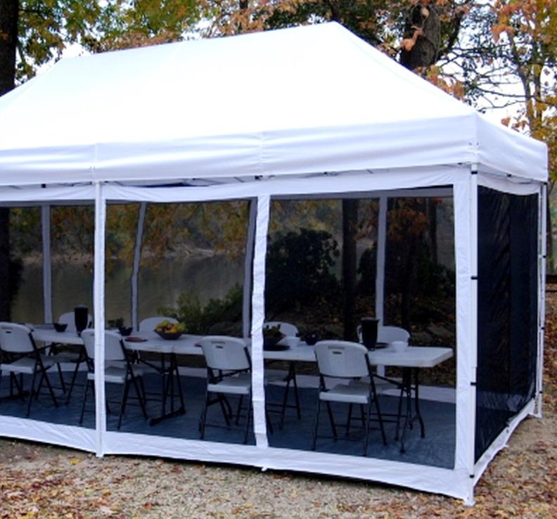 New 10 X 20 King Canopy Bug Proof Room Screen Tent Walls