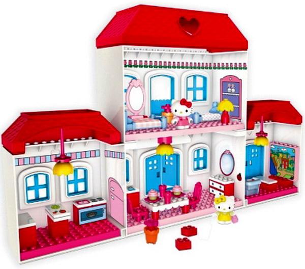 Hello Kitty Toy House : New hello kitty mega bloks large house building toy play
