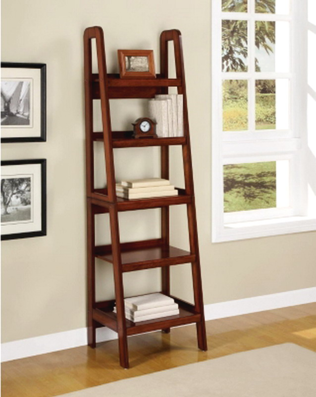 Wooden Ladder Shelves ~ New ladder style wooden bookcase shelving wood display