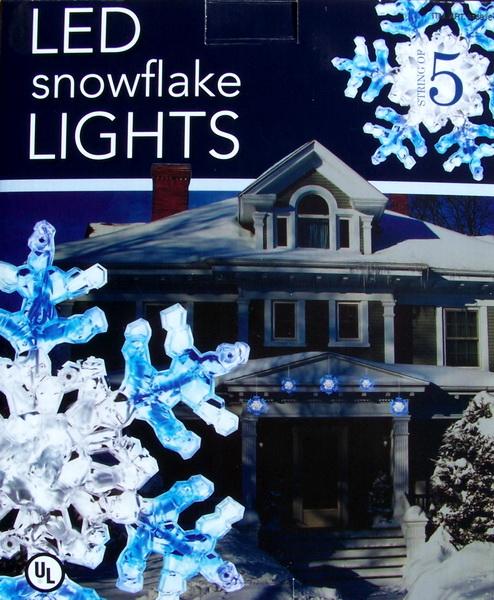 Snowflakes & Stars - 2' Blue and White LED Snowflake with ...  |Snowflake Blue And White Lights