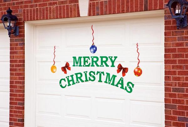 New car van or garage door christmas decoration quot merry